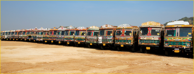 Truck-drivers in India