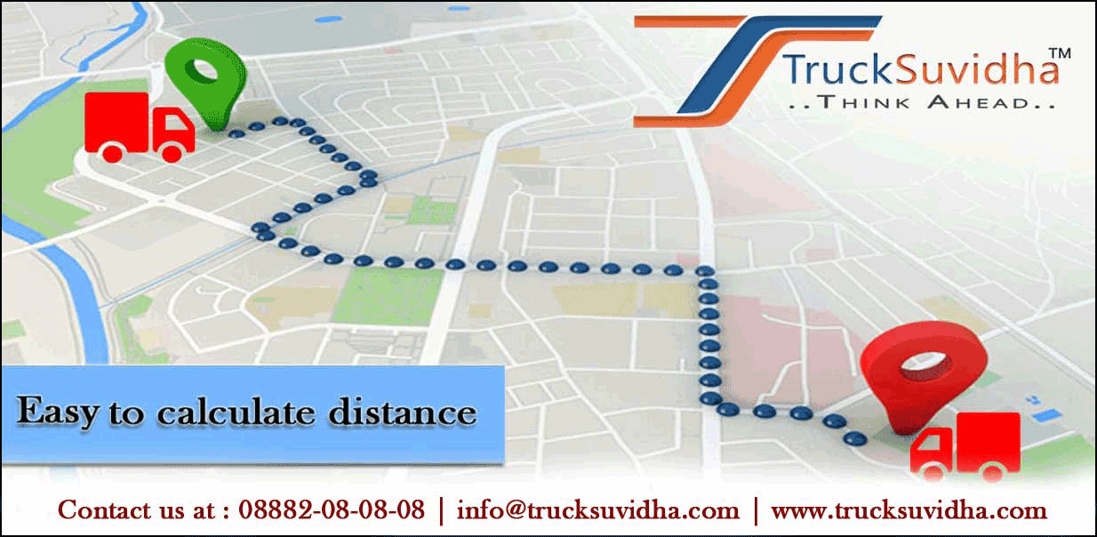 Distance calculator, Trucking, Truck Route, TruckSuvidha